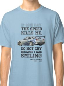 Paul Walker Tribute GTR - Halftone Classic T-Shirt