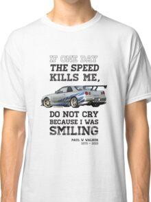 Paul Walker Tribute GTR - Halftone Classic T-Shirt