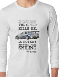 Paul Walker Tribute GTR - Halftone Long Sleeve T-Shirt