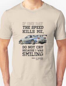 Paul Walker Tribute GTR - Halftone T-Shirt