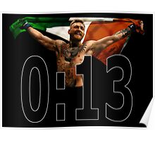 Conor McGregor - 0:13 SECONDS Poster