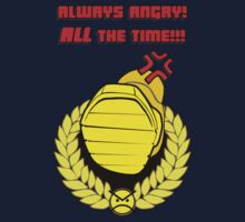 Tabletop gaming - always angry, all the time - powerfoot Kids Tee