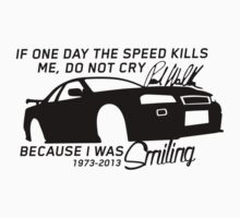 Paul Walker Sig. Tribute GTR - Black Kids Clothes