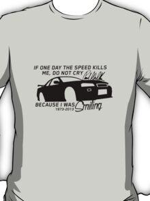 Paul Walker Sig. Tribute GTR - Black T-Shirt