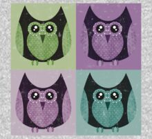 Distressed Owls - Colorful Kids Clothes