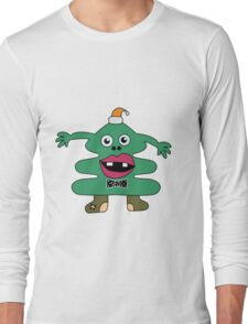 New Year Tree Cute Monster Long Sleeve T-Shirt