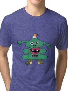 New Year Tree Cute Monster Tri-blend T-Shirt