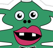 New Year Tree Cute Monster Sticker