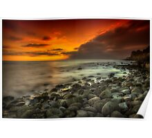 Steephill Cove Sunset Poster