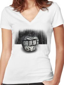 Mother Love Bone Women's Fitted V-Neck T-Shirt