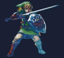 Link with sword 5 Kids Tee