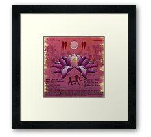Vishuddhi Chakra Framed Print