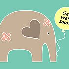 Get Well Soon Elephant by Elephant Love