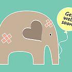 Get Well Soon Elephant by Elephant Love