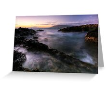 Drifting light, Maui Greeting Card