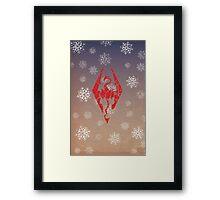 Skyrim - Dragonborn Christmas Card Framed Print