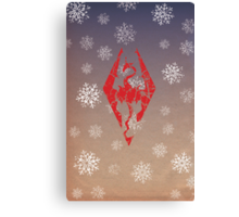 Skyrim - Dragonborn Christmas Card Canvas Print