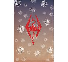 Skyrim - Dragonborn Christmas Card Photographic Print