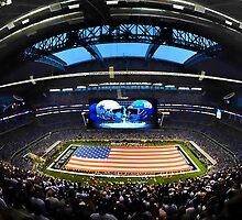 US Flag in Stadium by boogeyman