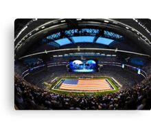 US Flag in Stadium Canvas Print