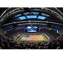 US Flag in Stadium Photographic Print