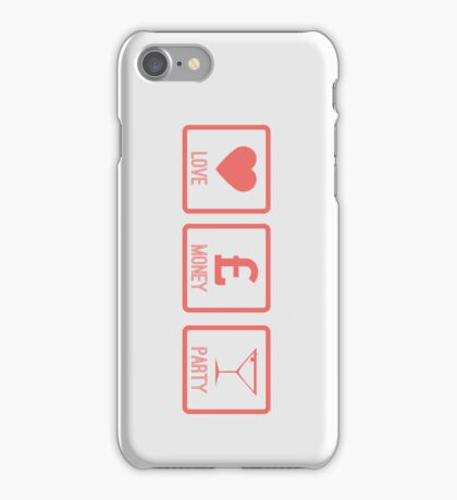 LOVE MONEY PARTY - Peach iPhone Case/Skin
