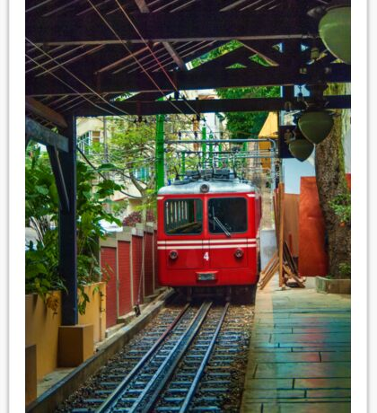 Corcovado Rack Railway at Station  Sticker