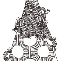 Zentangle Christmas Tree 002 by Ryan Elizabeth Woelfel