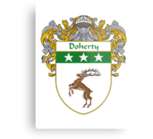 Doherty Coat of Arms/Family Crest Metal Print