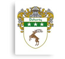 Doherty Coat of Arms/Family Crest Canvas Print