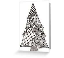 Zentangle Christmas Tree 010 Greeting Card