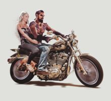 Drogo & Daenerys on Motorbike by ronin47design