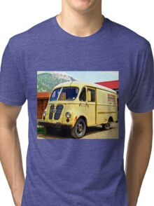 Old Yellow Vintage Delivery Van Tri-blend T-Shirt