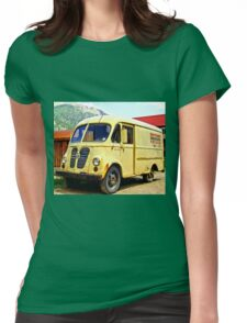 Old Yellow Vintage Delivery Van Womens Fitted T-Shirt
