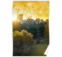 Lismore castle sunset over the blackwater river Poster