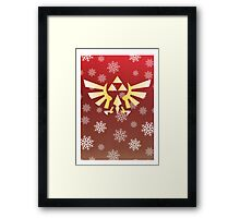 Legend of Zelda - Festive Triforce  Framed Print
