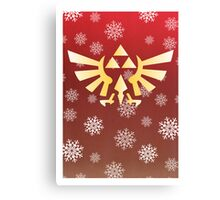 Legend of Zelda - Festive Triforce  Canvas Print