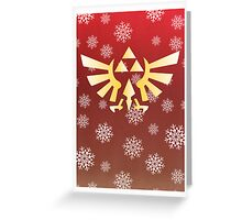 Legend of Zelda - Festive Triforce  Greeting Card