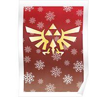 Legend of Zelda - Festive Triforce  Poster