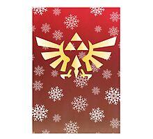 Legend of Zelda - Festive Triforce  Photographic Print