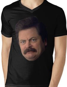 Ron Swanson Mens V-Neck T-Shirt