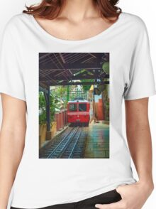Corcovado Rack Railway at Station  Women's Relaxed Fit T-Shirt