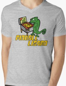 Pinball Lizard Mens V-Neck T-Shirt