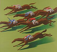 Poster for Horse Racing at Aarau by Bridgeman Art Library
