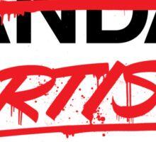 Artist Not Vandal (v2) Sticker