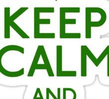 Keep Calm Bong (grn) Sticker
