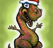 Christmas Baby T-Rex  by Kevin Middleton