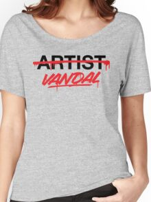 Vandal Not Artist (v2) Women's Relaxed Fit T-Shirt