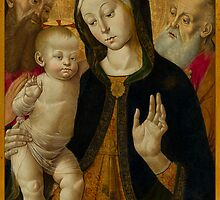 Madonna and Child with Two Hermit Saints, early 1480s by Nymza