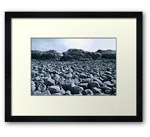 rocky beach in Kerry blue Framed Print